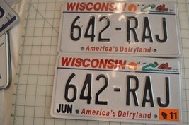 Wisconsin 2011 License Plates - $10.39