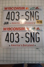 Wisconsin License Plates Pair 403-SNG - $10.99