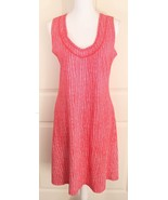 Fresh Produce Red Tribal V-Neck Sleeveless Cotton Sheath Dress w/Pockets... - $29.95