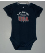 "Baby Boy's ""I Play on Team USA"" Onesie - $8.00"