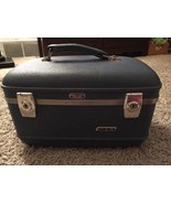 Vintage American Tourister Hardshell Blue Train Case/Cosmetic - $39.99