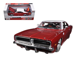 1969 Dodge Charger R/T Burgundy/White 1/25 Diec... - $45.00