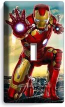 IRONMAN SUPERHERO SINGLE LIGHT SWITCH WALL PLATE COVER BOYS BEDROOM ART ... - $8.99