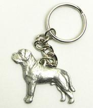 Mastiff Dog Keychain Keyring Harris Pewter Made... - $9.48