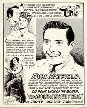 Hurd HATFIELD ORG Rare Joe CAL CAGNO TV AD ART PHOTO - $9.99