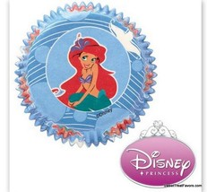 Little Mermaid Ariel CupCake Baking Decoration Party Cups LINERS x50 Bir... - $8.85