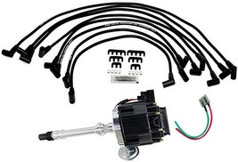 Chevrolet Chevy GM HEI Distributor with Spark Plug Wires + HEI Pigtail Harness image 1
