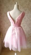 Cute Pink V-neck Short Princess Dress Sleeveless Pink Tutu Birthday Party Dress image 4