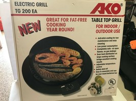 UNUSED IN BOX AKO Model TG200ED Table Top Indoor Outdoor Electric Grill ... - $49.01