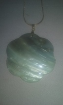 Artisan Handmade Natural Mother Of Pearl Shell Large Gold Plated Pendant... - $14.99
