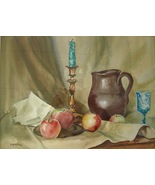 Marjorie Akerman Still Life Watercolor Painting MA Artist Signed Listed ... - $279.00