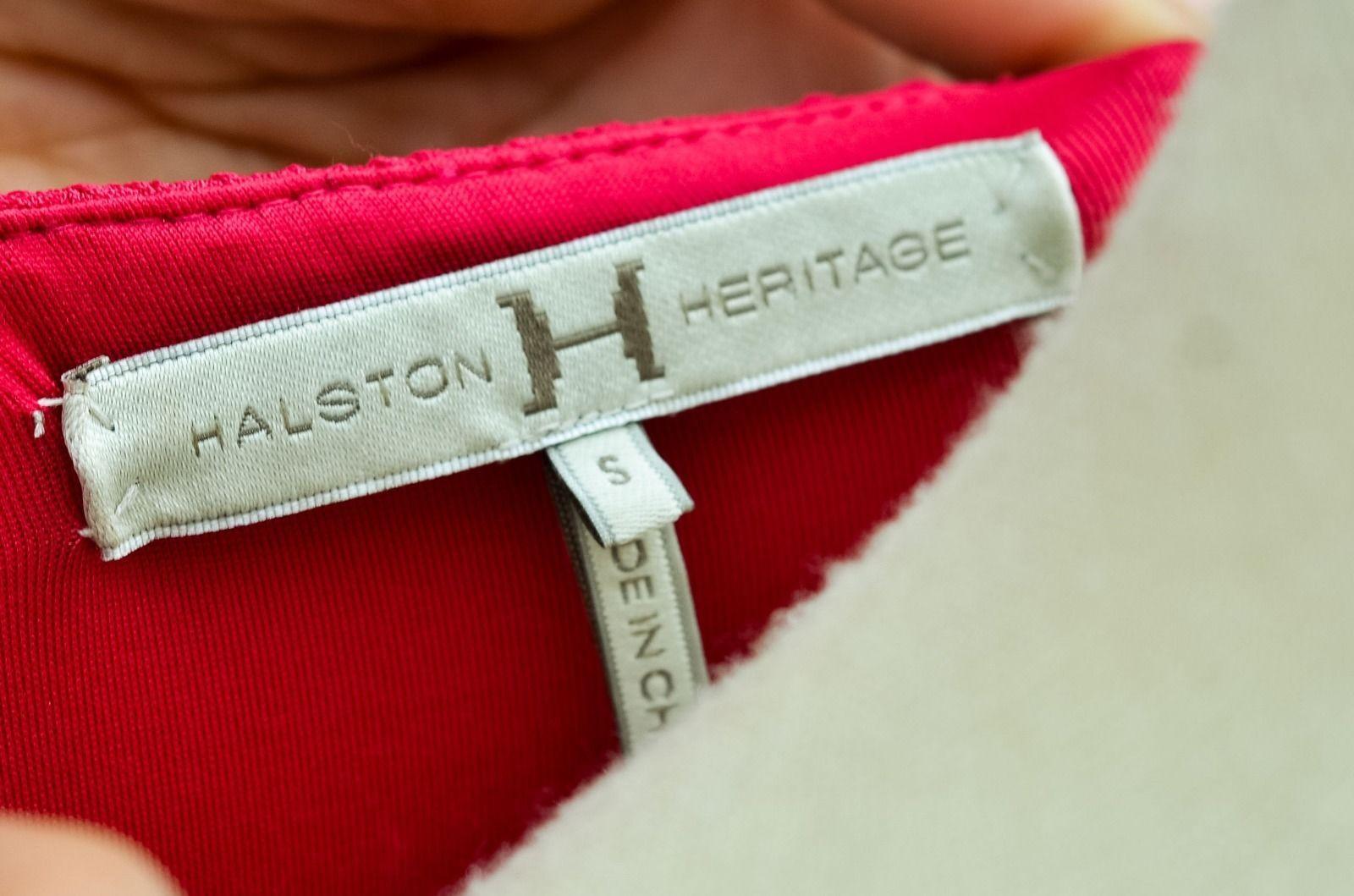 Halston Heritage Dress Hot Pink Ruched Short Sleeve Jersey Mini Dress Sz-S