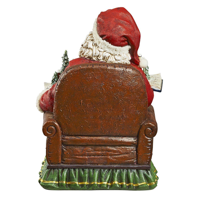 Christmas Statue Decorations: Santa Claus Clause Sculpture Father Christmas Kris Kringle
