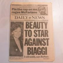 Daily News May 14 1987 McFarlane Biaggi Mario Barbara Barlow M8 - $39.99