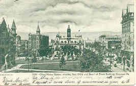 Scranton Pennsylvania Court House Square 1906 Post Card,  - $5.00