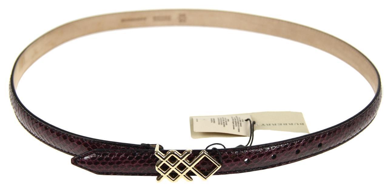 burberry pembrooke snakeskin claret belt size 38 inches 90. Black Bedroom Furniture Sets. Home Design Ideas