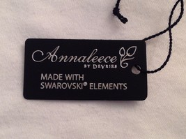 New Annaleece Necklace Twisted 22 Karat Gold 2 Amber Color Stones with Swarovski image 5