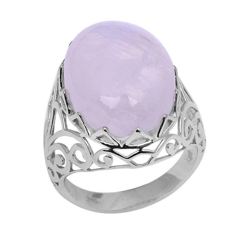 Classic Rainbow Moonstone Solid Gemstone 925 Sterling Silver Ring Sz L SHRI0754