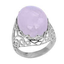 Classic Rainbow Moonstone Solid Gemstone 925 Sterling Silver Ring Sz L S... - $32.02