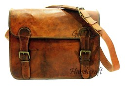 Messenger bag for men leather women satchel shoulder laptop mens vintage... - $54.45