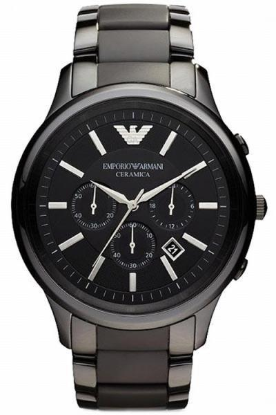 Armani AR1452 Men´s Black Ceramica Chronograph Bracelet Watch