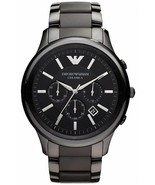 Armani AR1452 Men´s Black Ceramica Chronograph Bracelet Watch - $150.09