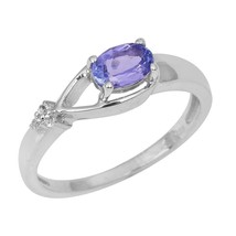 Women Jewelry Solid Tanzanite Gemstone 925 Sterling Silver Ring Sz L SHR... - €15,29 EUR