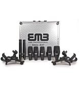 EMB EMIC-KIT7 Professional Drum Set 7 Piece Microphones Mic Kit For Home... - $157.36