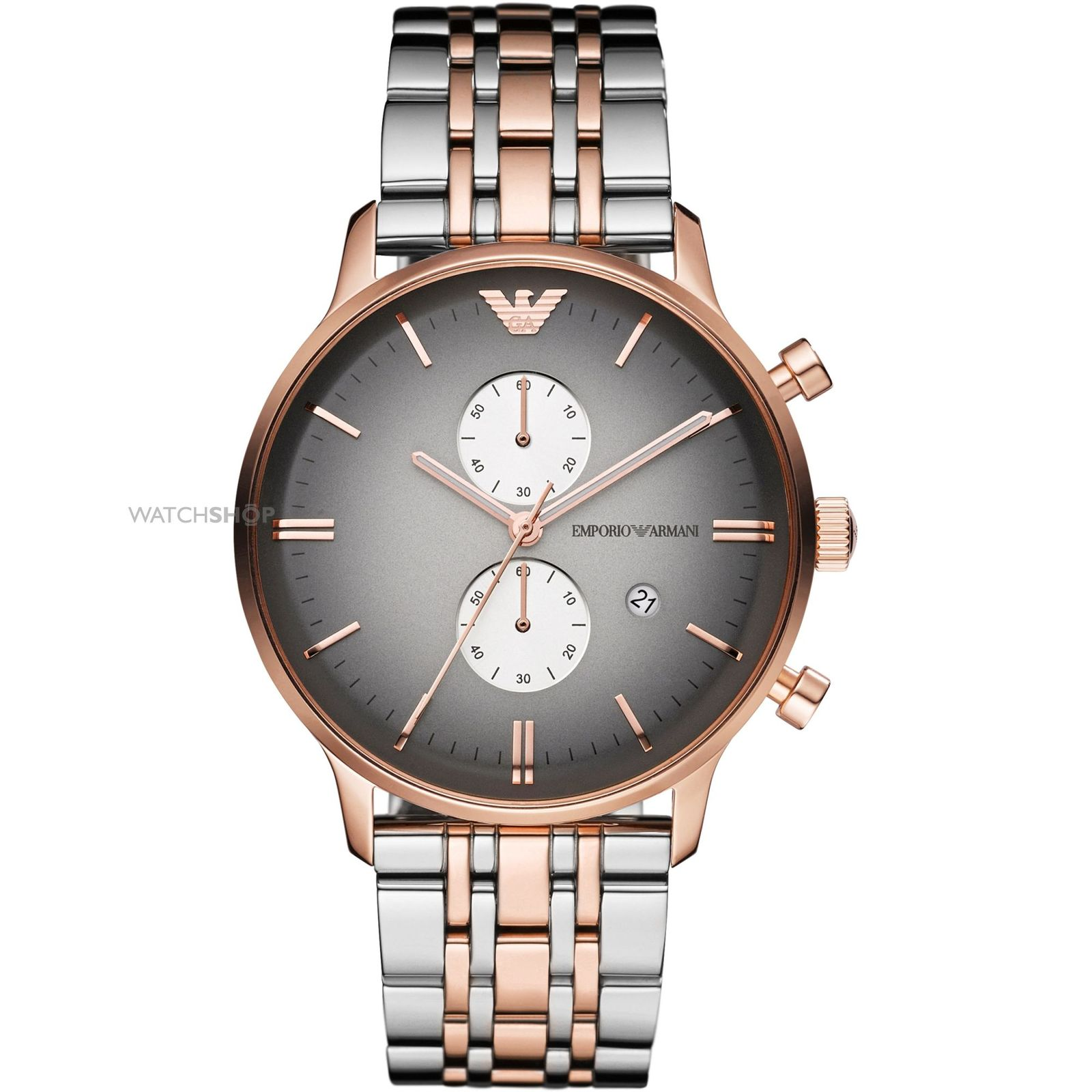 EMPORIO ARMANI AR1721 ROSE GOLD-TONE STAINLESS STEEL MENS WATCH