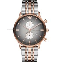 EMPORIO ARMANI AR1721 ROSE GOLD-TONE STAINLESS STEEL MENS WATCH image 1