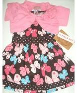 NEW! Sugar Honey Baby Girls Woven Dress with Ruffles And Bollero Set 12~... - $13.10