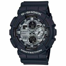 New Casio G-Shock Analog-Digital Black Resin Strap Mens Watch GA140GM-1A1 - $88.49