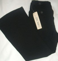 NWT!! GIRLS CHEROKEE BLACK ADJUST WAIST CASUAL PANTS JEANS SIZE 6 BOOT C... - $14.03