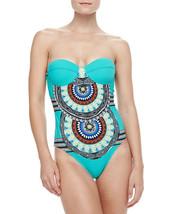 NEW Red Carter Aqua Multi Bustier Bandeau UW One piece Swimsuit L Large ... - €41,96 EUR