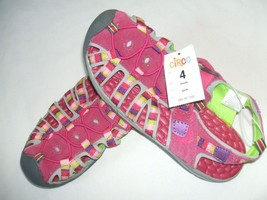 NWT! Girl's Circo Leather Textile Water Shoes Sandals Finola Pink Size 4... - $18.70