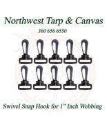 "Snap Hook, Swivel, for 1"" Inch Webbing, Acetal Plastic, 10 Pcs - Ships f... - $5.80"