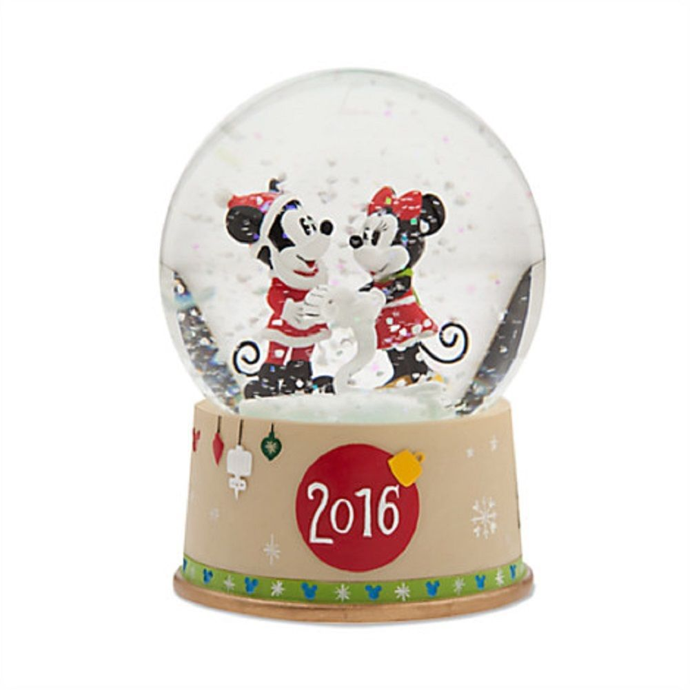 Disney Store Minnie Mickey Mouse Christmas Snowglobe 2016 New - $59.95