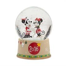 Disney Store Minnie Mickey Mouse Christmas Snowglobe 2016 New - $59.95