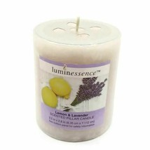Luminessence, Lemon & Lavender Scented Pillar Candle 6.9 oz  - NEW ! - $31.78