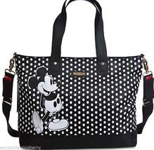 Disney Store Mickey Mouse Diaper Bag Storksak Black White Polka Dots NWTS - $189.95