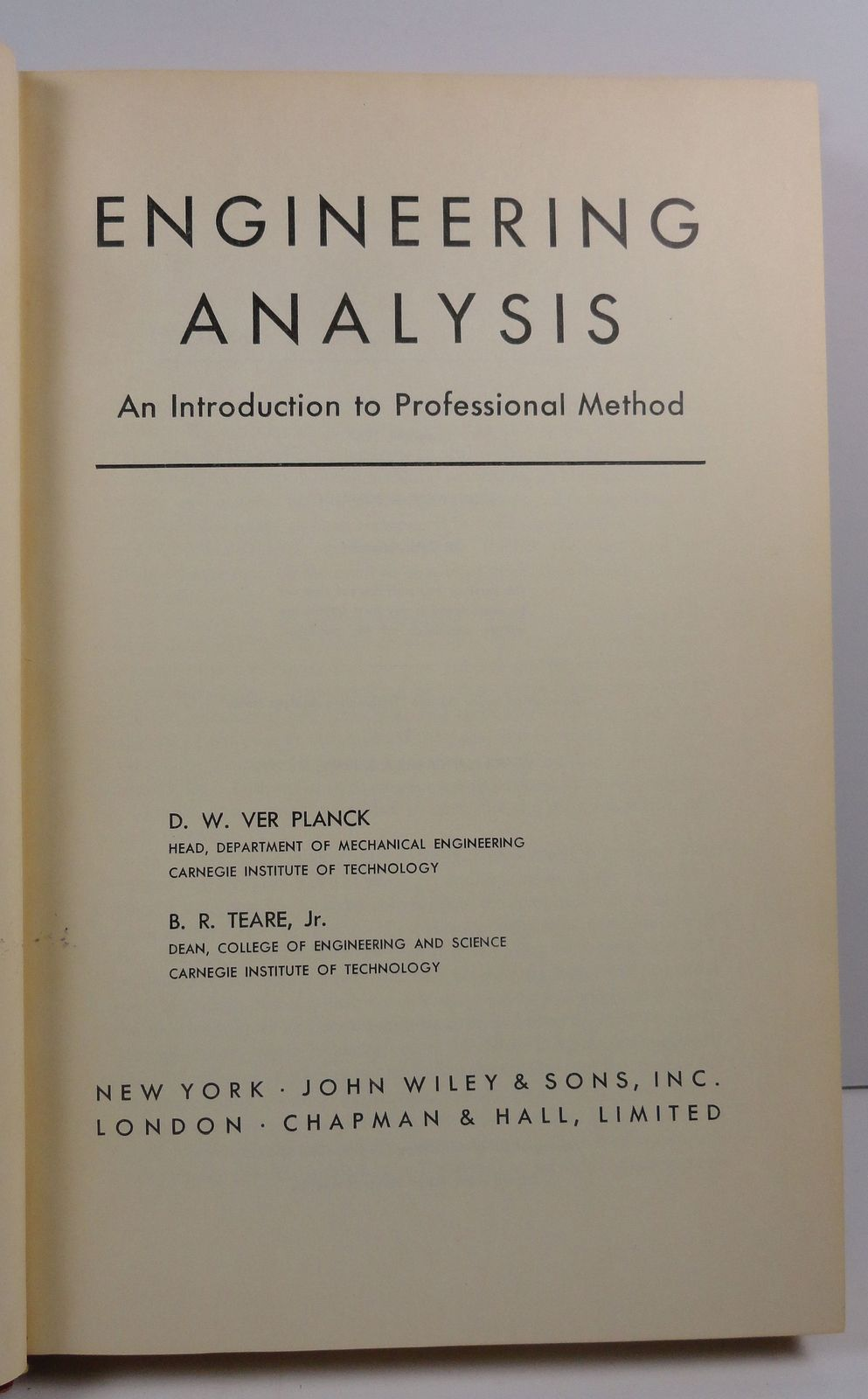 Engineering Analysis by Ver Planck and Teare 1954