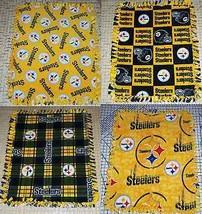"Pittsburgh Steelers Fleece Baby Blanket Pet Lap Travel  30 ""x 24""  NFL F... - $39.95"