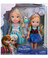 Disney Frozen Elsa Anna Doll Toddler Olaf Snowm... - $98.95