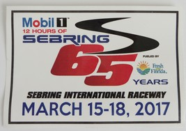 2017 Mobil1 12 Hours of Sebring 65 Years Sticker - $2.99