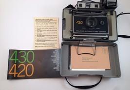 Vintage Polaroid 420 Automatic Land Camera Focused Flash Instant Not Tested - $48.37