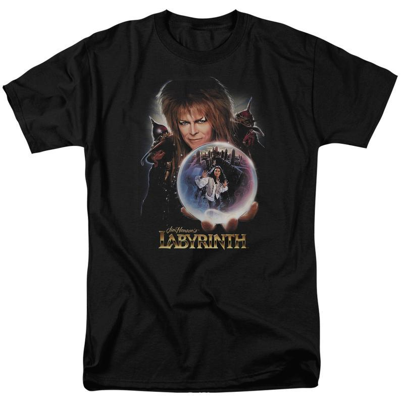 Labyrinth Jim Henson's Fantasy Cult film Retro 80's adult graphic t-shirt LAB102