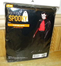 Halloween Costume Vampire Cape NEW Adult One size fits all - $12.58