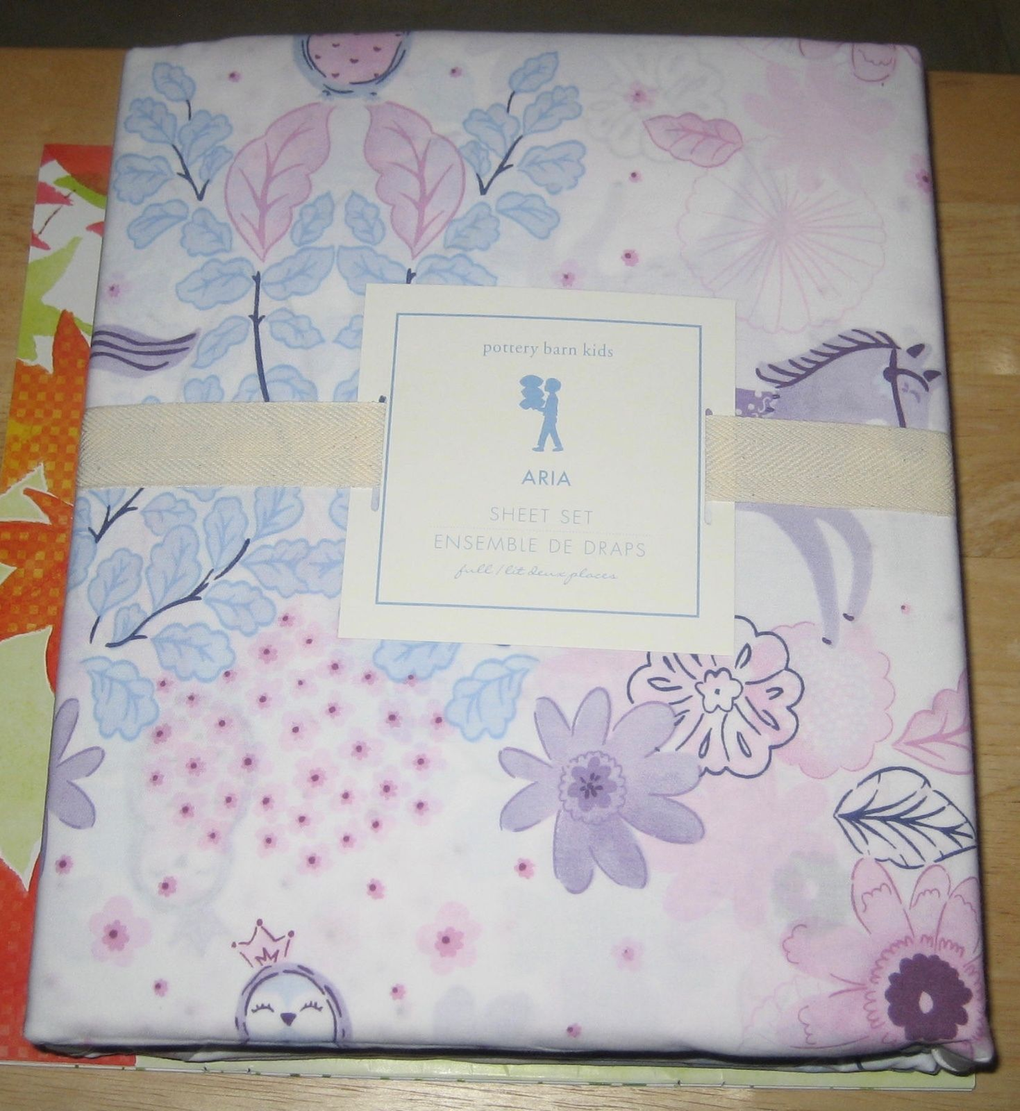 pottery barn kids aria sheet set full new in package. Black Bedroom Furniture Sets. Home Design Ideas