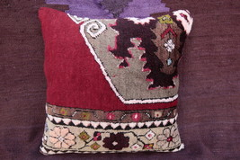 18x18 rug pillows,Vintage rug Pillow,Vivid colo... - $45.00