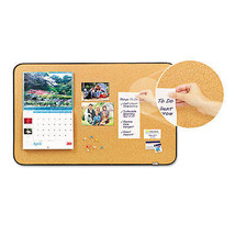 Post-it Sticky Cork Self-Stick Bulletin Board, 36 X 22, Natural, Black F... - $54.89